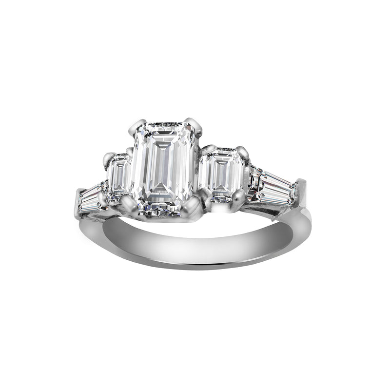 Platinum and Diamond Engagement Ring, Rings, Nazar's & Co. - Nazar's & Co.