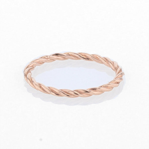 Rose Gold Thin Twist Band - Nazar's & Co.