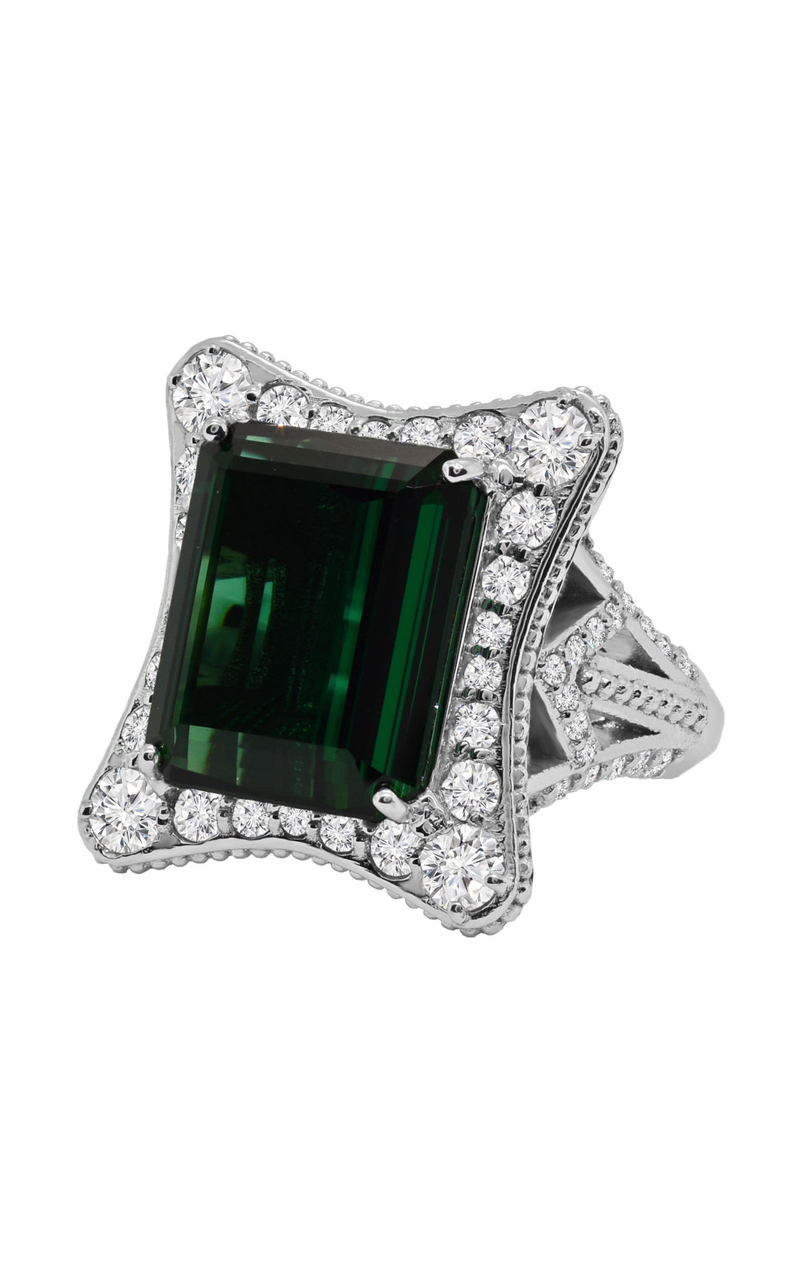 14K White Gold Tourmaline and Diamond Ring, Rings, Nazar's & Co. - Nazar's & Co.