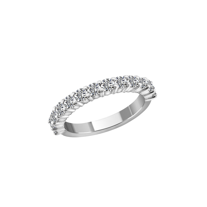 14K White Gold and Diamond Band - Nazar's & Co.