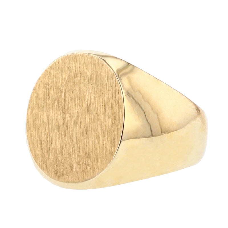 14K Yellow Gold Oval Signet Ring, Rings, Nazar's & Co. - Nazar's & Co.