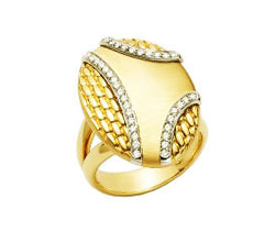 Fope Orizzonti 18K Yellow Gold and Diamond Ring, Rings, Nazar's & Co. - Nazar's & Co.