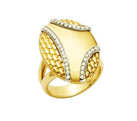 Orizzonti 18K Yellow Gold and Diamond Ring, Rings, Nazar's & Co. - Nazar's & Co.