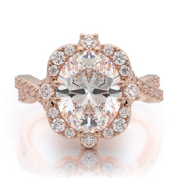Nazarelle Charmed Diamond Engagement Ring Setting - Nazar's & Co.