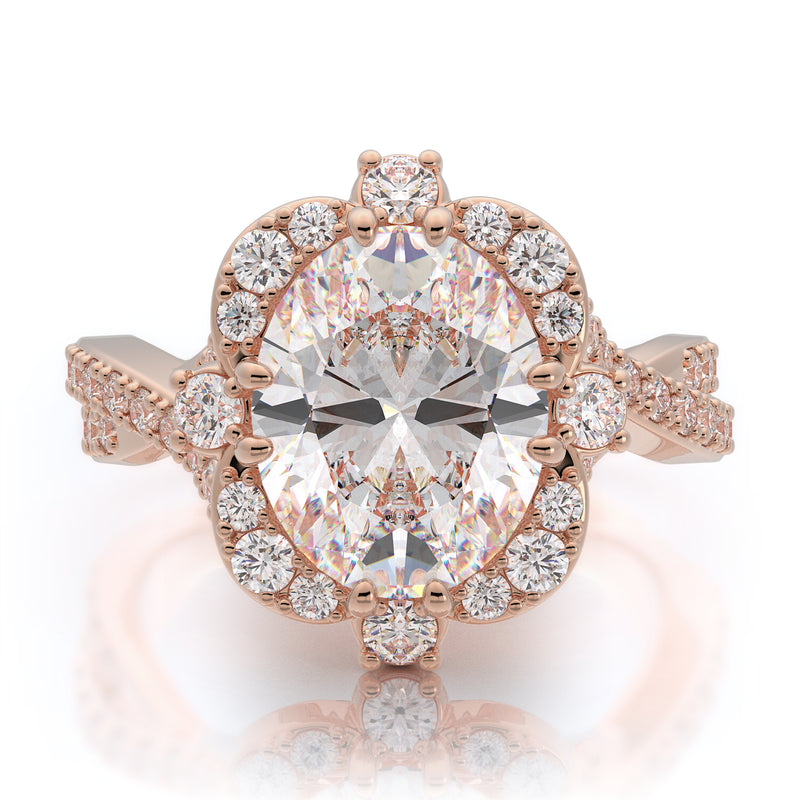 Nazarelle Charmed Diamond Engagement Ring Setting, Rings, Nazar's & Co. - Nazar's & Co.