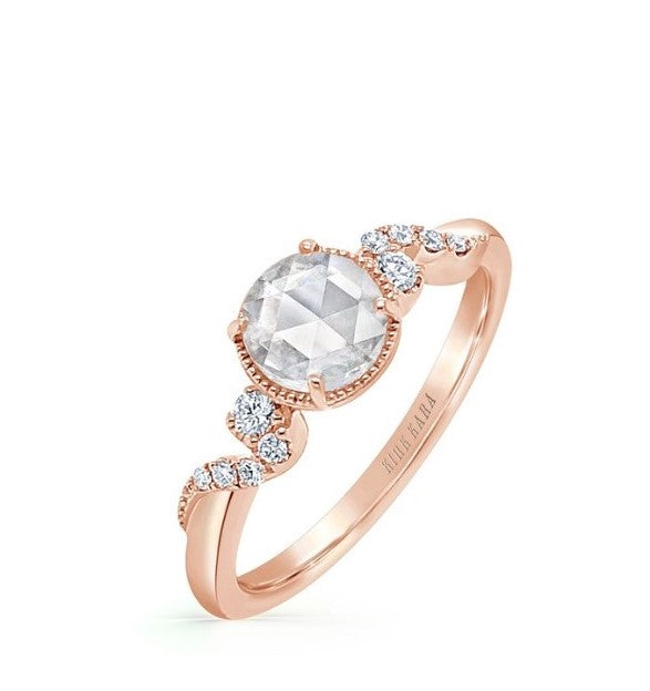 KIRK KARA Angelique Engagement Rose Gold Ring, Rings, Nazar's & Co. - Nazar's & Co.