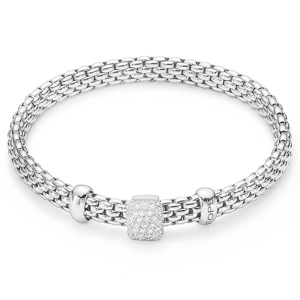 Fope White Gold and Diamond Bracelet, Bracelets, Nazar's & Co. - Nazar's & Co.