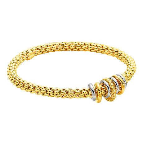 Fope Yellow Gold and Diamond Bracelet, Bracelets, Nazar's & Co. - Nazar's & Co.