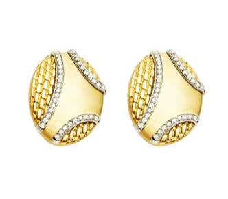 Fope Orizzonti Two Tone Gold and Diamond Earrings, Earrings, Nazar's & Co. - Nazar's & Co.