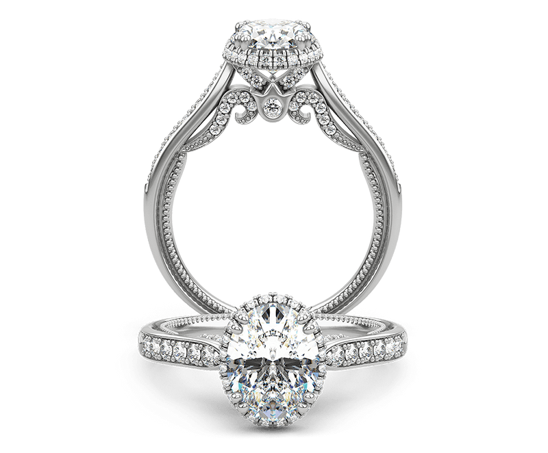 Verragio Insignia Oval Engagement Ring Setting - Nazar's & Co.