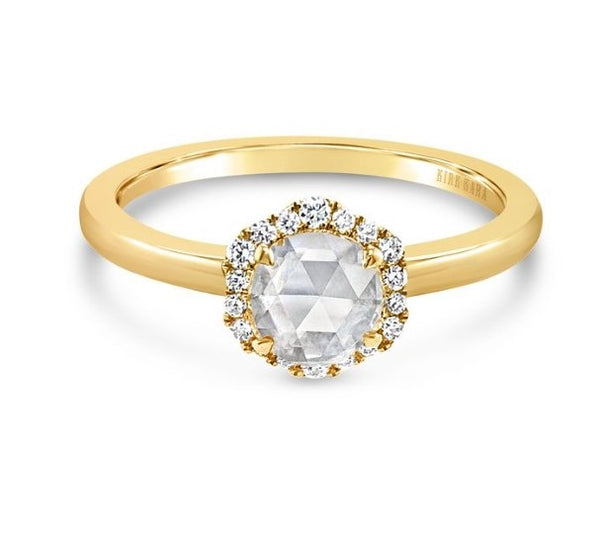 KIRK KARA Dahlia Engagement Ring Yellow Gold, Rings, Nazar's & Co. - Nazar's & Co.