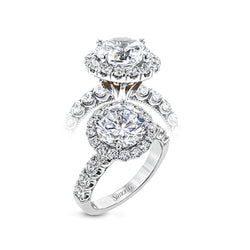 Simon G. 18K White Gold Diamond Engagement Ring Setting, Rings, Nazar's & Co. - Nazar's & Co.