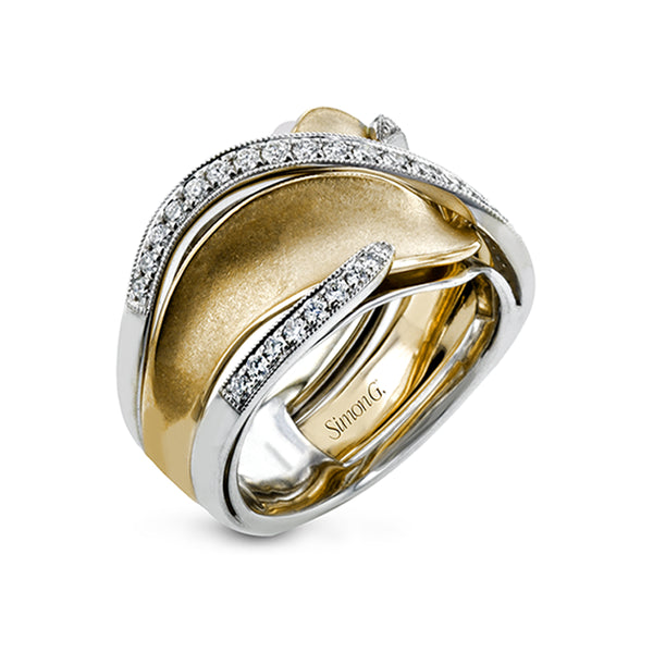 Simon G. 18K Gold and Diamond Right Hand Ring