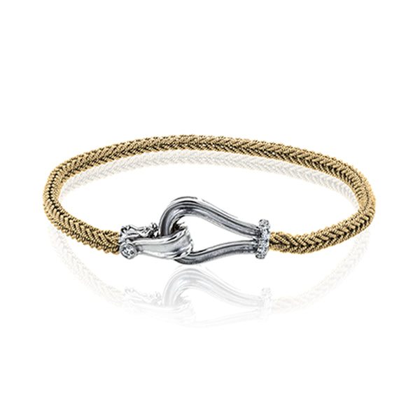 Simon G. Buckle Collection 18K Yellow Gold Bracelet