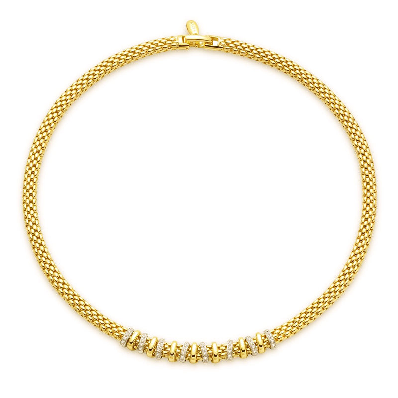 Fope Yellow Gold and Diamond Necklace - Nazar's & Co.