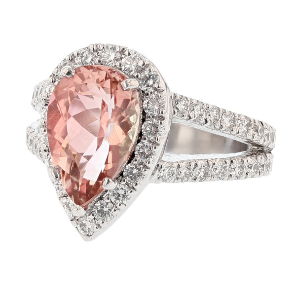 Nazarelle Platinum Pink Tourmaline and Diamond Ring, Rings, Nazar's & Co. - Nazar's & Co.