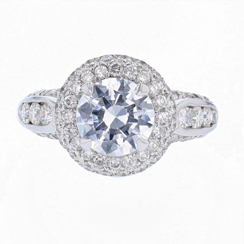 Nazarelle Round Diamond Engagement Ring Setting - Nazar's & Co.