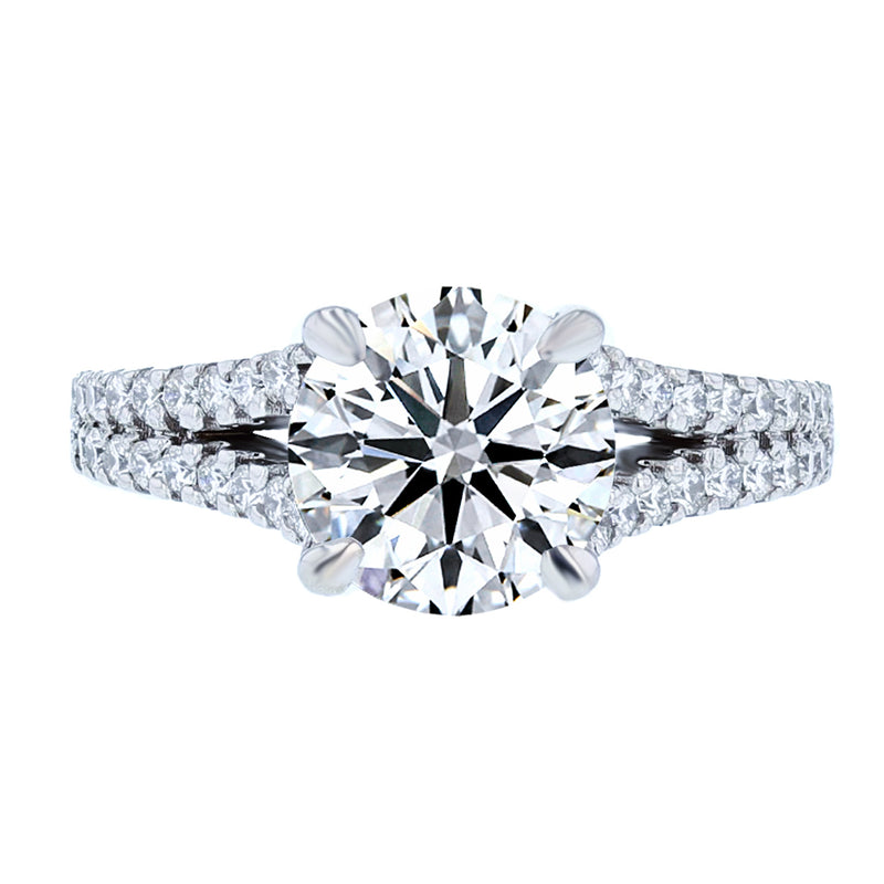 Nazarelle Round Split Shank Diamond Engagement Ring Setting