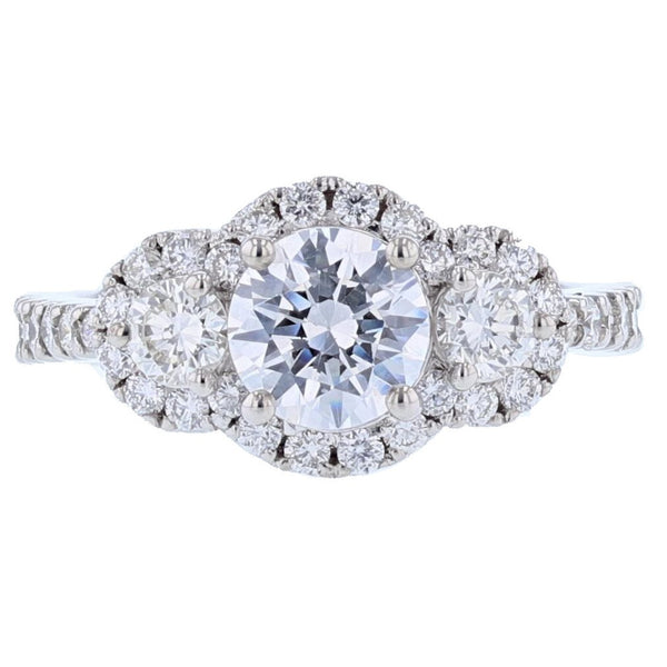 Nazarelle Diamond Three Stone Engagement Ring Setting