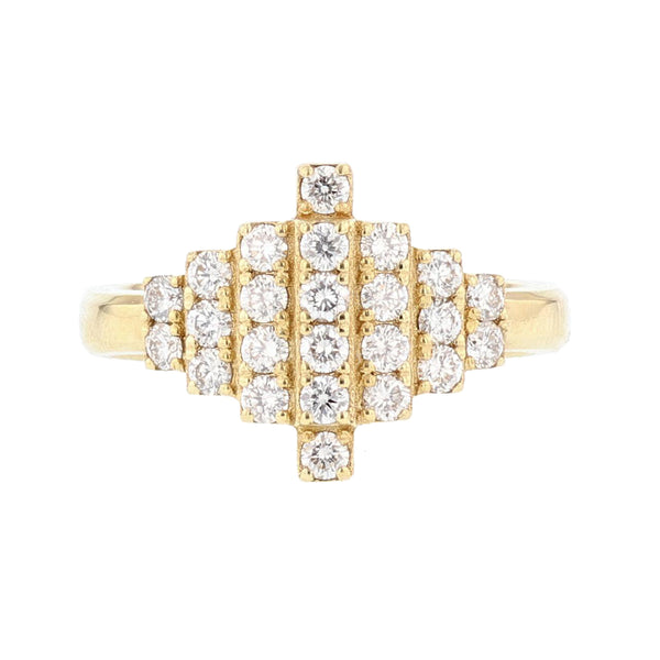 Nazarelle 18K Yellow Gold Tapered Diamond Ring - Nazar's & Co.