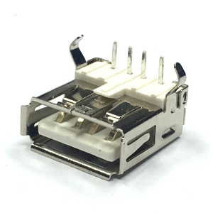 Type A USB Connector, Female, DIP, 90 Deg