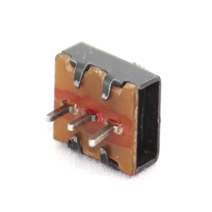 Slide Switch DIP, 3Pin, 2.5mm pitch, 90 Deg, SPDT