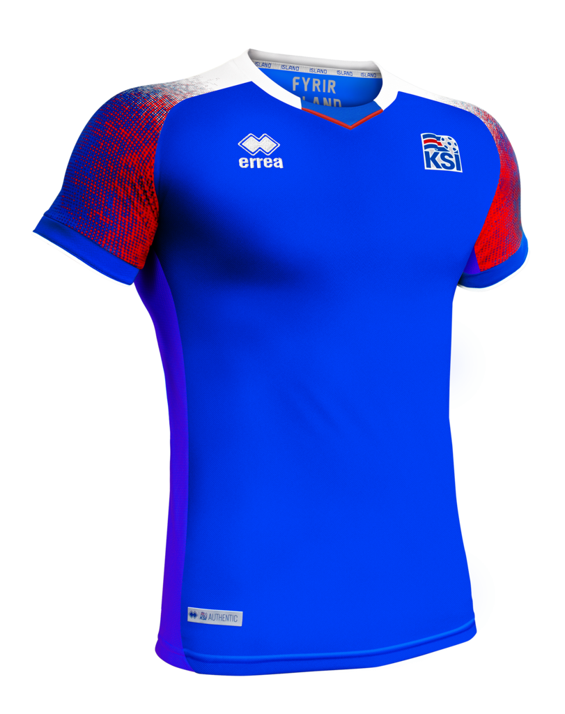 sports shoes 3cd14 caf1b Iceland World Cup 2018 Official Home Jersey