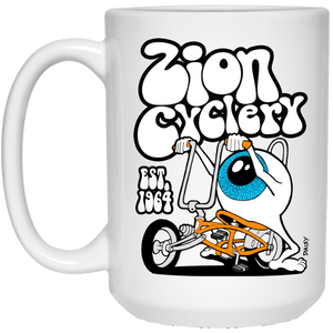 ZC Eyeball 15 oz. White Mug