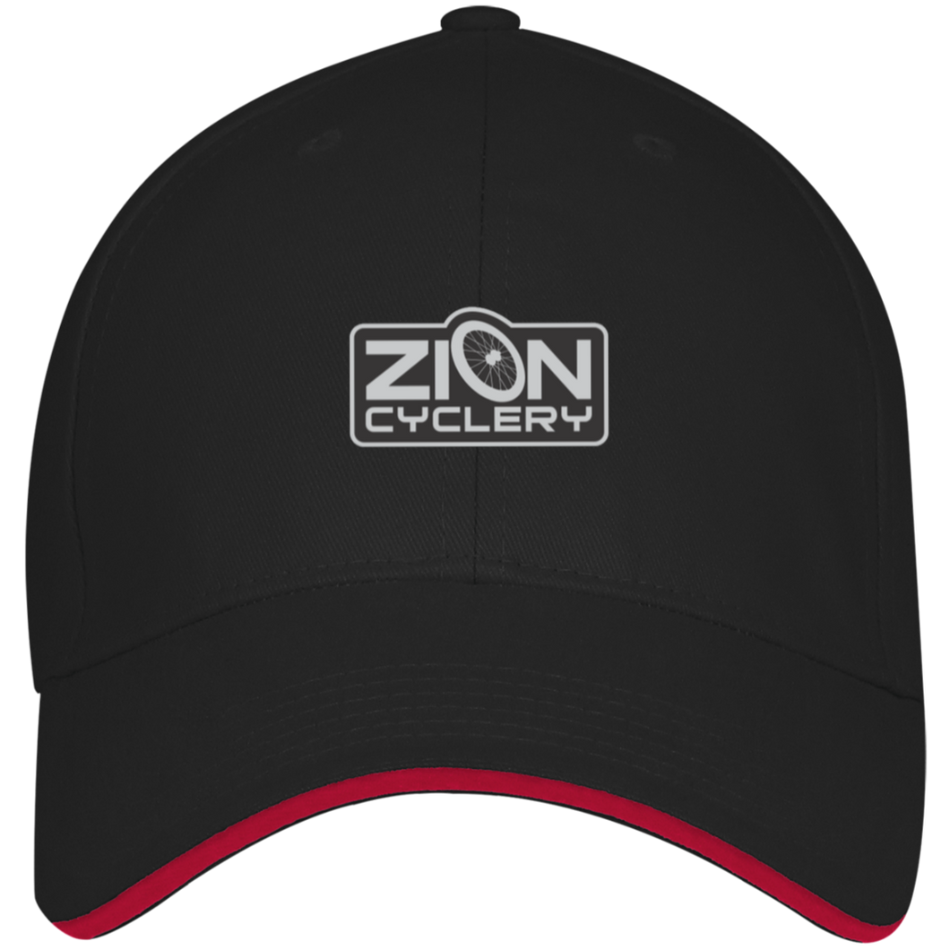 ZC Embroidered Structured Twill Cap With Sandwich Visor