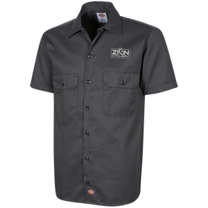 ZC Embroidered Dickies Men's Short Sleeve Workshirt