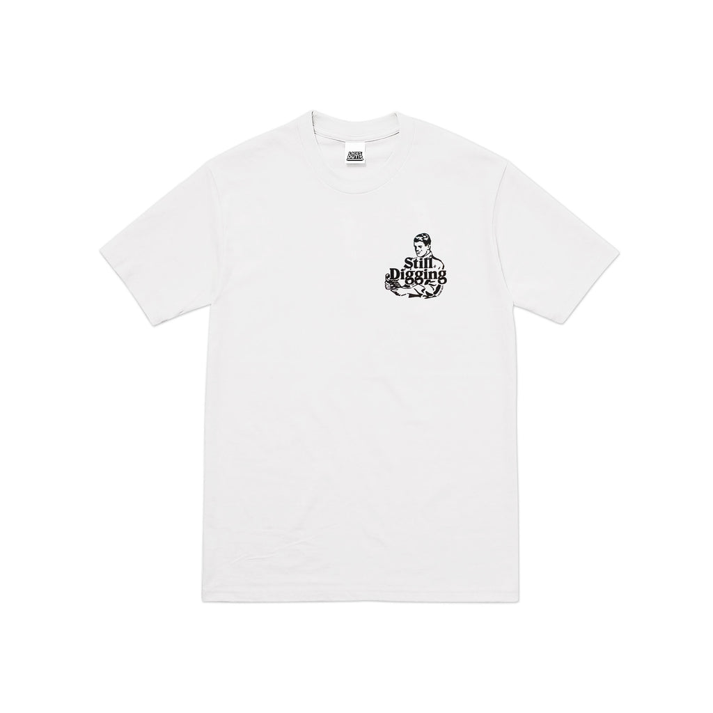 "White ""Still Digging""</br>  AW18 T-Shirt"