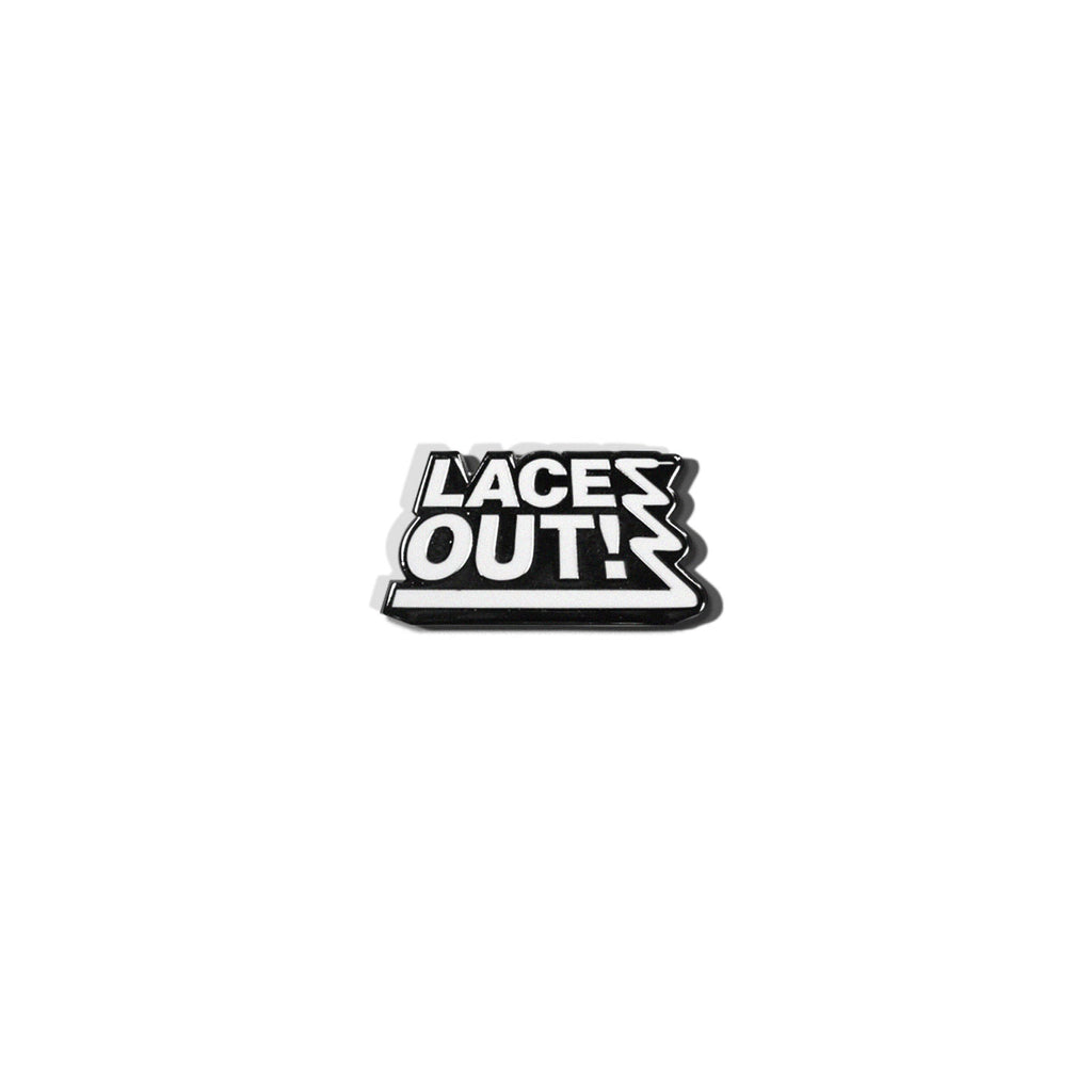 LACES OUT! Logo Pin
