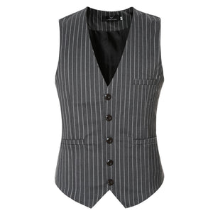 Striped Broadcloth Waistcoat - One Dapper Gent