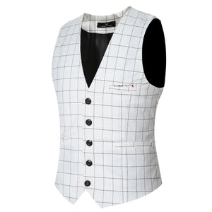 Plaid Broadcloth Waistcoat - One Dapper Gent