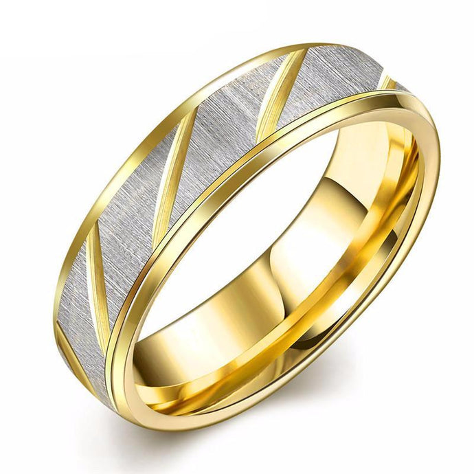 Golden Stainless Steel Ring - One Dapper Gent