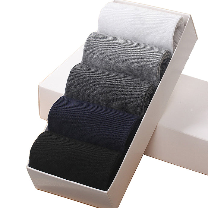 Pack of 5 Plain Cotton Socks - One Dapper Gent