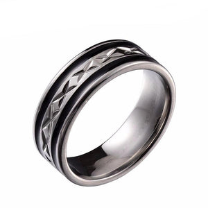 Stainless Steel Cross Ring - One Dapper Gent