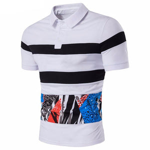 Noirblanc Patterned Polo Shirt - One Dapper Gent