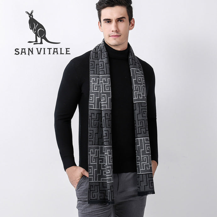 Patterned Winter Pashmina Scarf - One Dapper Gent