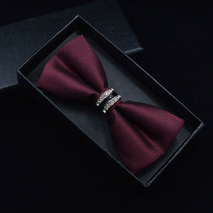 Crystal Jujube Bow Tie - One Dapper Gent