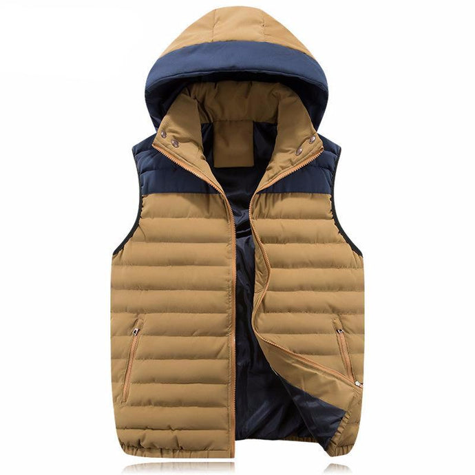 Patchwork Hooded Gilet - One Dapper Gent