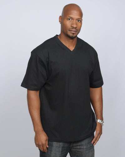 R&O HEAVYWEIGHT-PREMIUM SHORT SLEEVE V-NECK