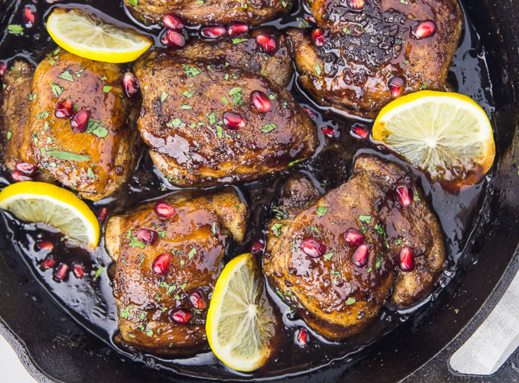 Wine and Food Pairings: Bayernmoor Rosé and Skillet Honey Pomegranate Chicken Thighs