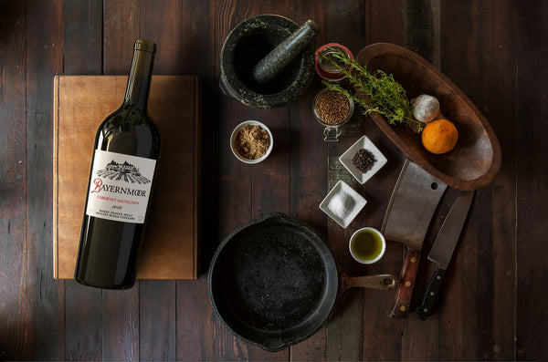 Wine And Food Pairings: Bayernmoor Cabernet Sauvignon And Roast Prime Rib with Thyme Au Jus
