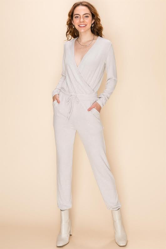 Heather Grey Jumpsuit