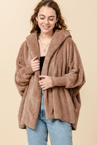 Mocha Long Teddy Coat