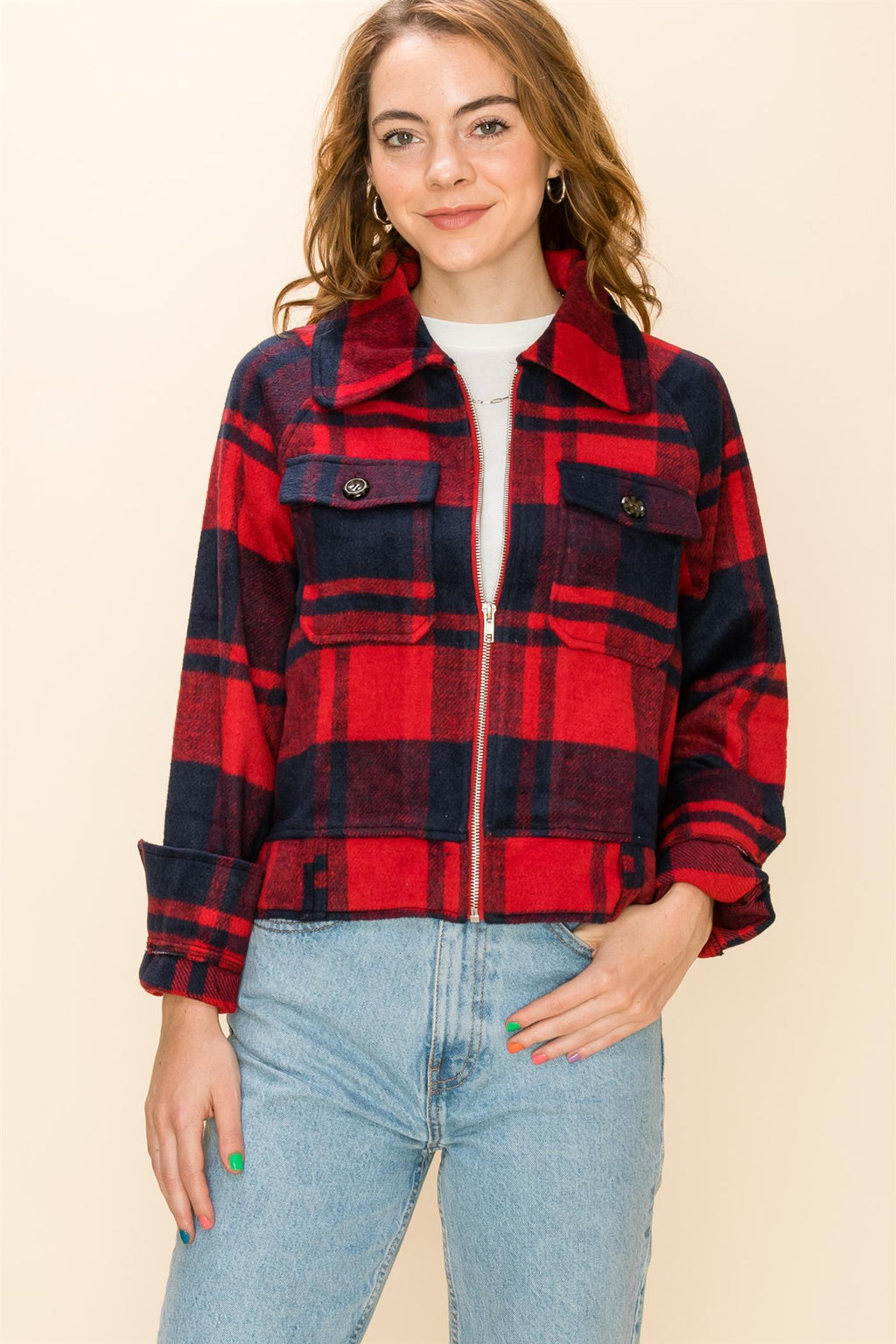 Red/Blue Plaid Jacket