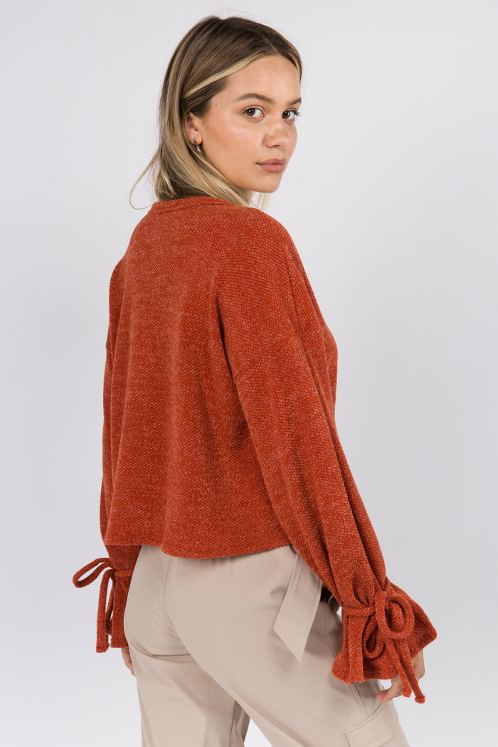 Brick Bell Cuff Sweater