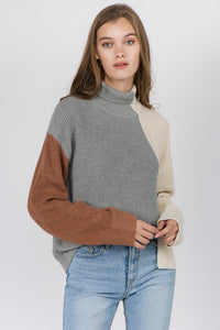 Multi Color Block Sweater