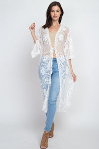 White Lace Cardigan